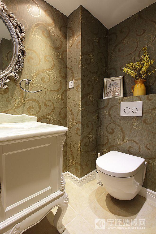 中欧混搭风格复式楼装修案例 卫生间装修效果图