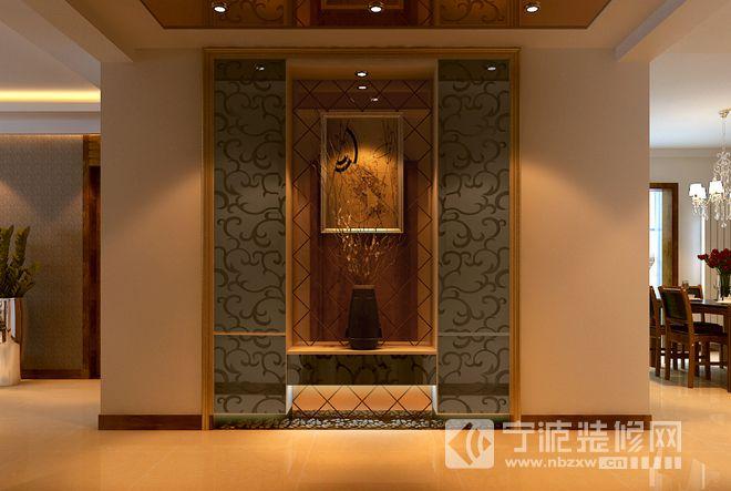新中式风格三居设计图欣赏 过道装修效果图 -新中式风格三居设计图欣