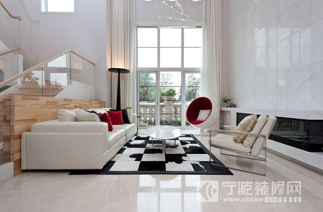 现代简约风格别墅装修效果图 客厅装修图片