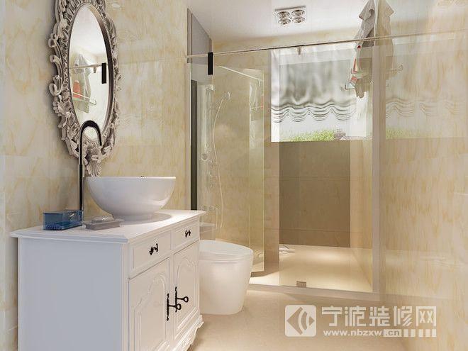 135平米欧式三居效果图 卫生间装修图片