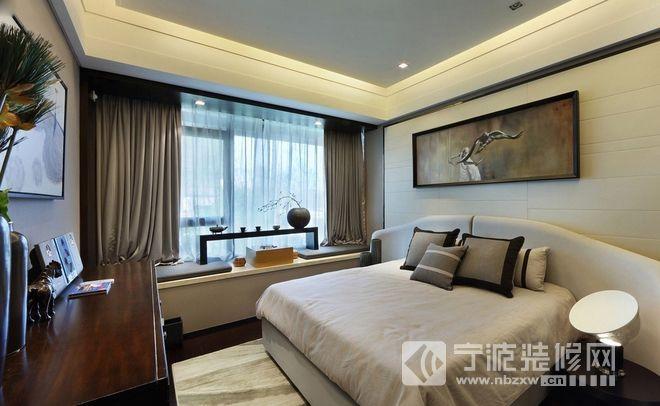 137平现代大气公寓设计 卧室装修效果图