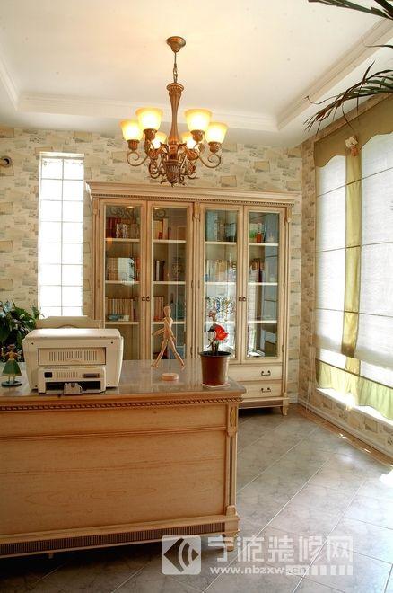 2015美式风格别墅设计效果图 书房装修图片