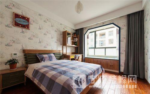 新中式风格三居设计案例 卧室装修效果图 -新中式风格三居设计案例