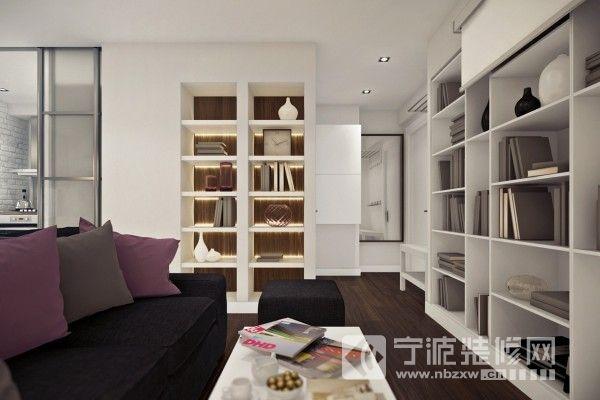 40㎡简约演绎完美单身公寓 客厅装修图片高清图片
