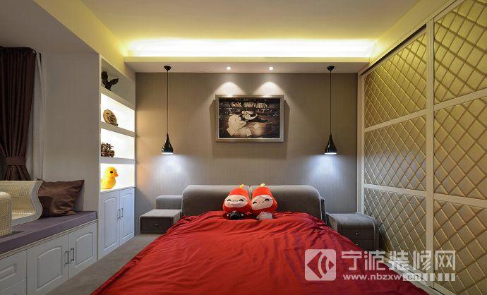 95平现代装修效果图欣赏 卧室装修图片