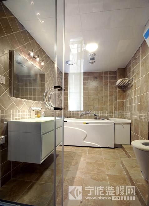 60平米现代风格一居室设计 卫生间装修图片