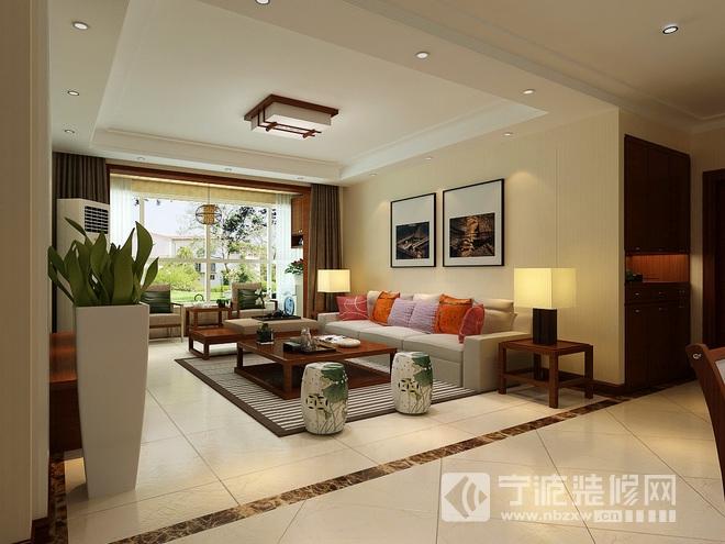 43平银凤晓月简约中式装修效果图 客厅装修图片