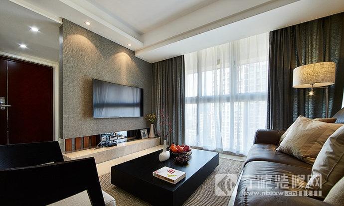 12平君悦国际现代风装修效果图 客厅装修图片