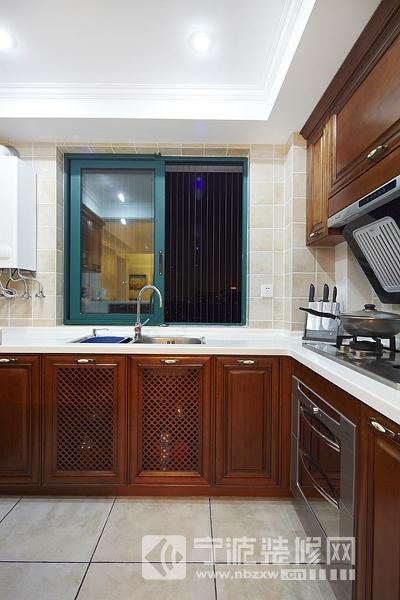 140平美式中式混搭装修效果图 厨房装修图片