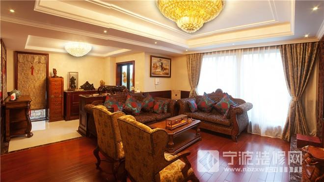 268平中式英式混搭别墅 客厅装修图片