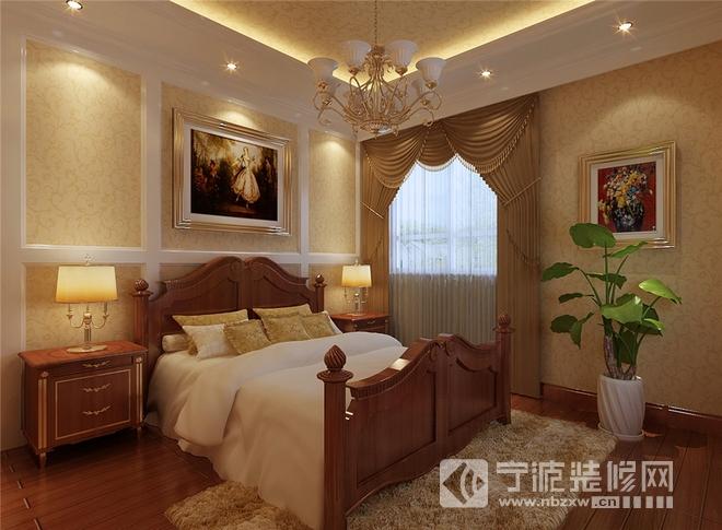 130平三居现代风装修效果图 卧室装修图片