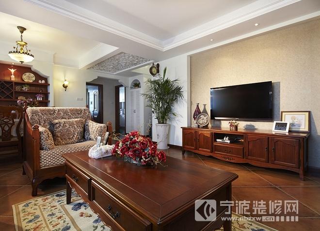 123平三室两厅美式乡村雅居欣赏 客厅装修图片