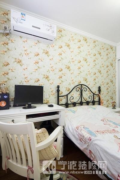 78平二室一厅简欧风中户型装修案例 卧室装修图片