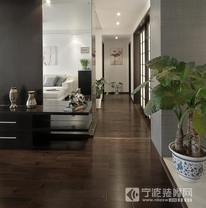 150平现代婚房大户型装修案例欣赏 过道装修效果图