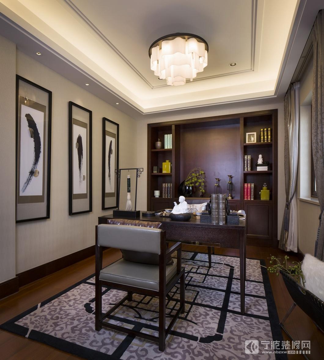 180平米新古典中式风格 书房装修图片