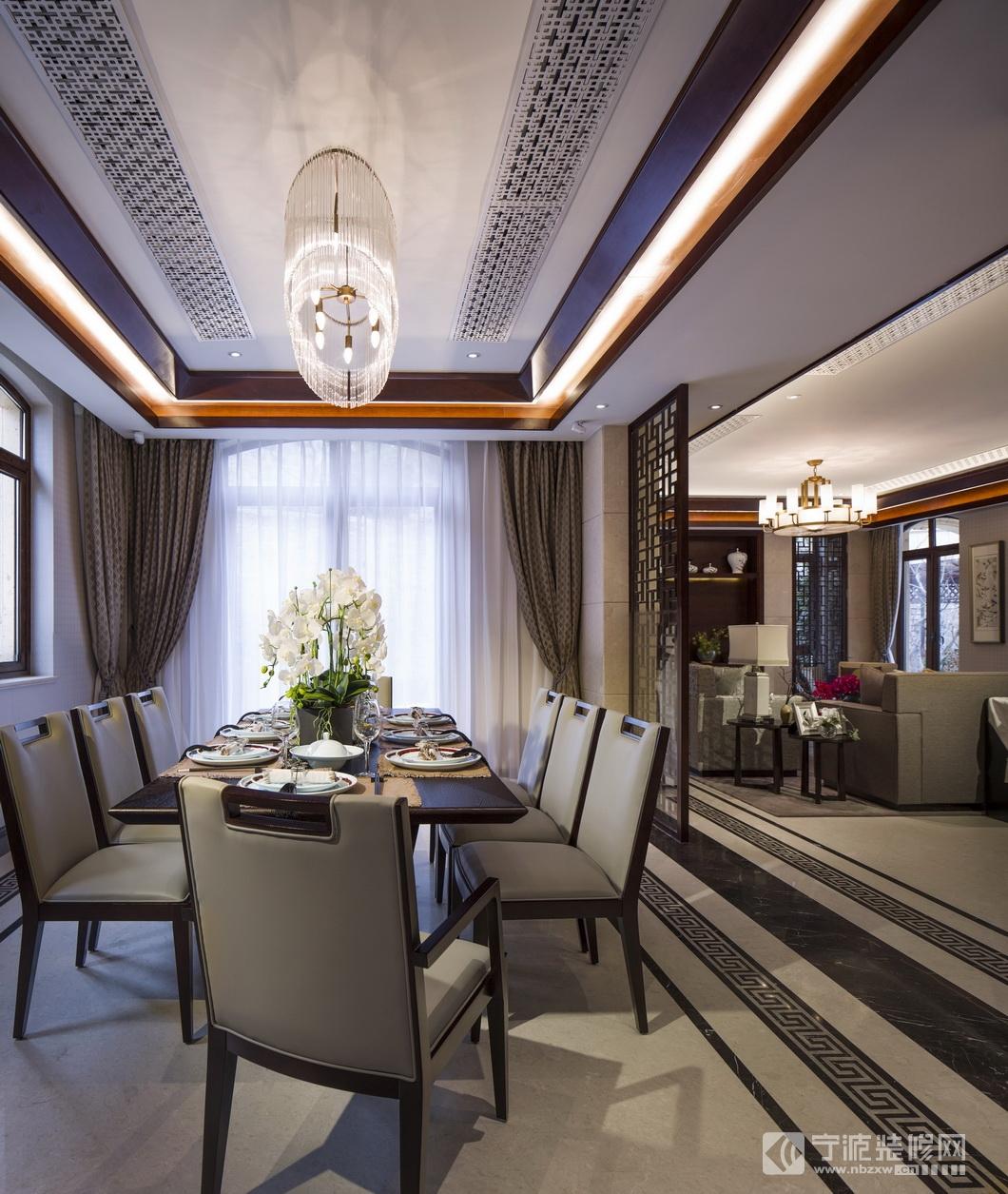 180平米新古典中式风格 餐厅装修图片