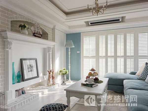 103平婚房条纹新中式装修效果图 客厅装修图片 -103平婚房条纹新中式