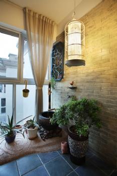 古典风阳台装修图片