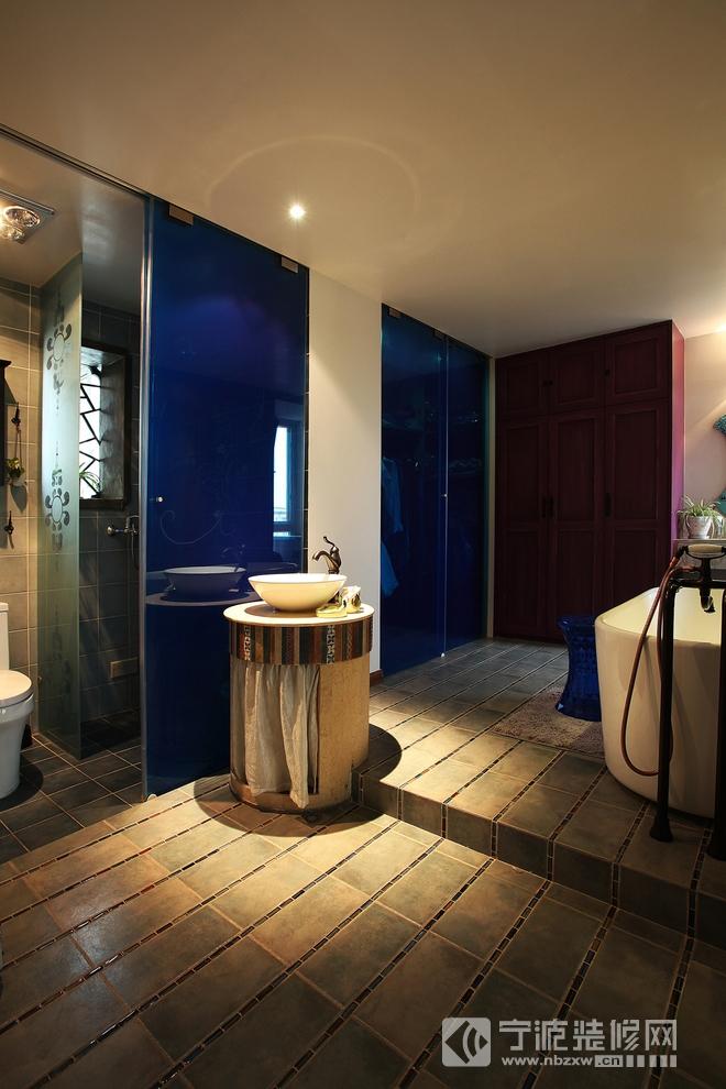 中式的典雅,乡村风格案例 卫生间装修图片