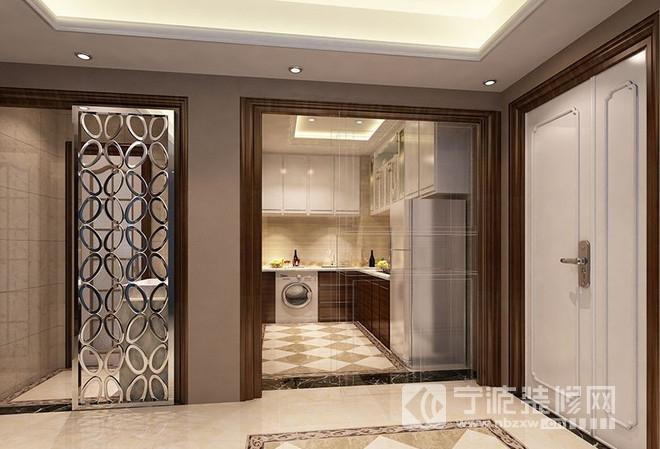 93平二居欧式古典风装修效果图 厨房装修图片高清图片
