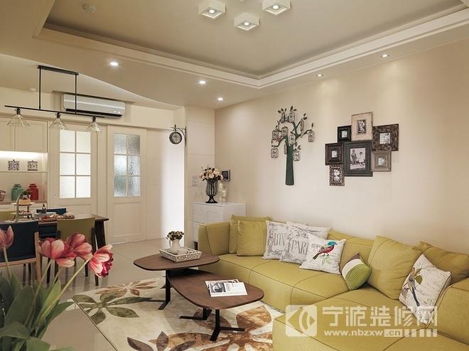 92平田园三室两卫温馨雅居 客厅装修图片