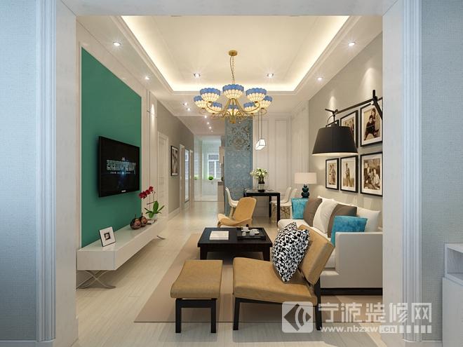 93平米现代风两居室装修效果图 装修图片