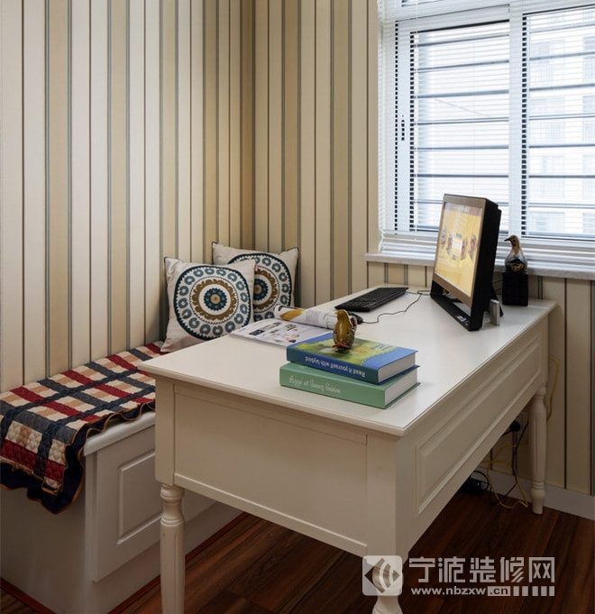 100平设计实景装修图片 书房装修图片高清图片