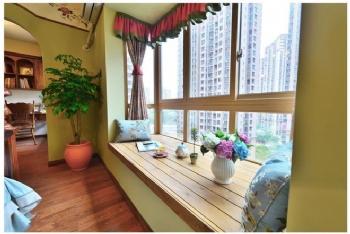 中式风阳台装修图片