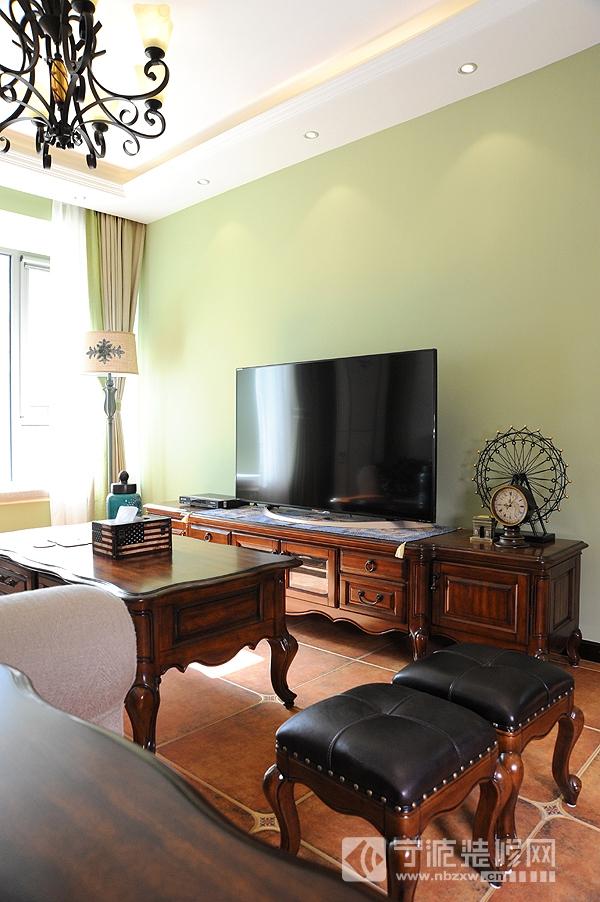 休闲美式风格 清新简约时尚家 客厅装修图片