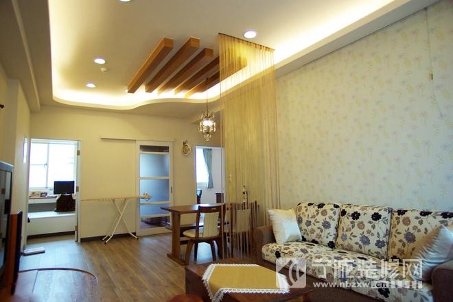 82.5平美式乡村两居小家 客厅装修图片
