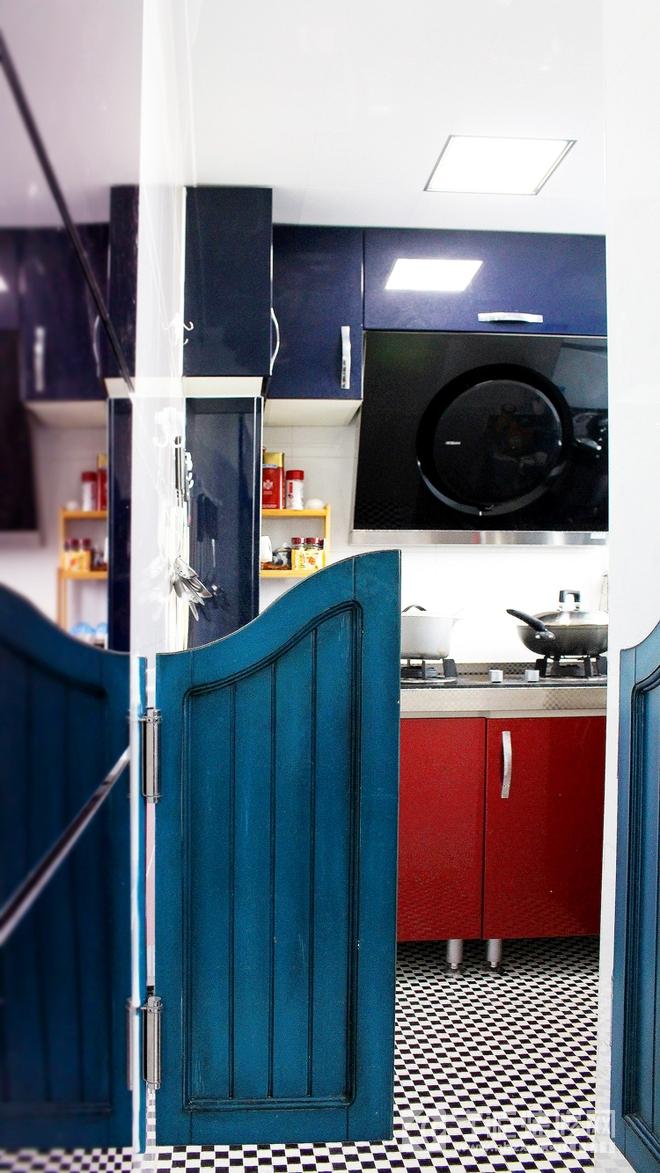 新中式风格俏丽婚房设计 厨房装修效果图高清图片
