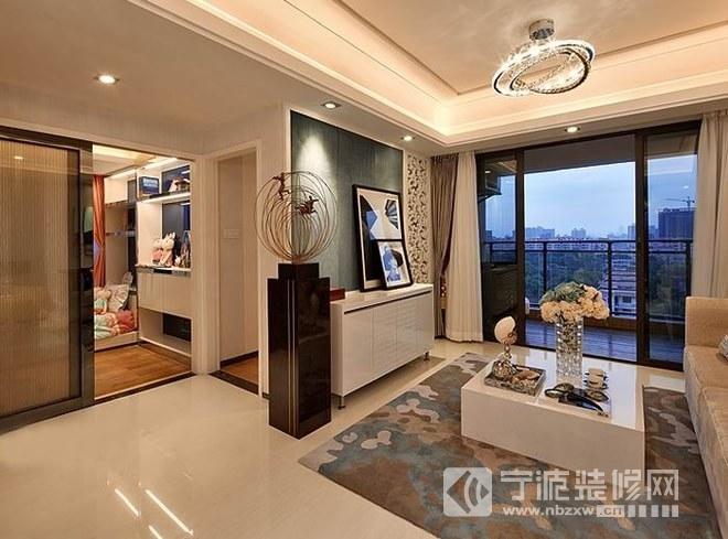 98平方婚房后现代风格三居室案例 客厅装修图片 -98平方婚房后现代风