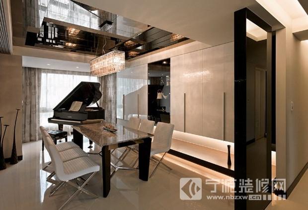 263平米北欧风格别墅设计装修案例 餐厅装修效果图 -263平米北欧风格