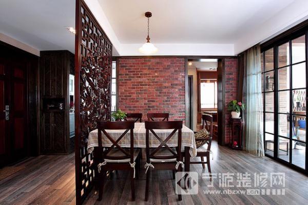 极简黑白怀旧风 88平温馨一居室 餐厅装修效果图