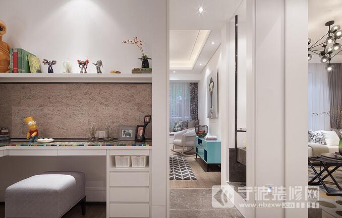 85平北欧风二室一厅装修案例欣赏 过道装修效果图
