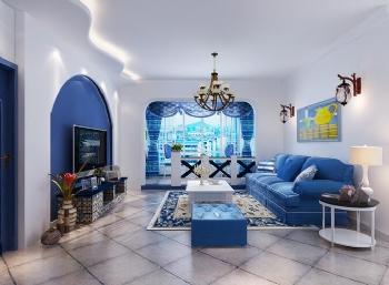 120平地中海三居装修案例欣赏