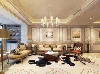 110平现代风3室2厅1卫案例欣赏