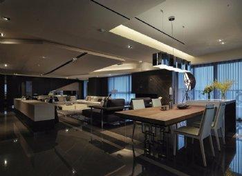 盛世东方320平后现代装修效果图现代餐厅
