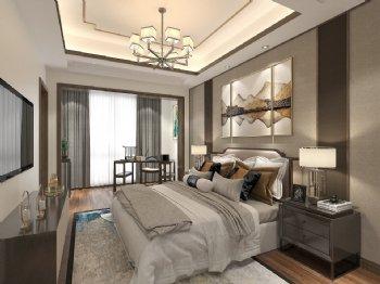 新中式中式卧室