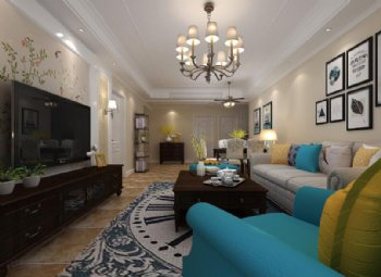 金悦府130平3室2厅2卫美式风案例