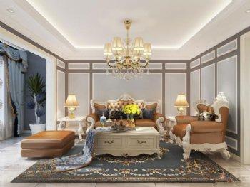 清新装欧式整装 让两室变得更宽敞