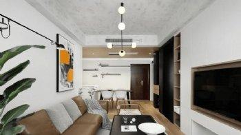 简约70平 两居室 装修黑白灰三色抽象美