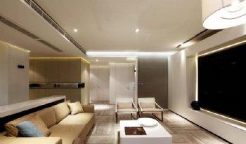 150平绿地观堂大四居装修 简约抽象之美