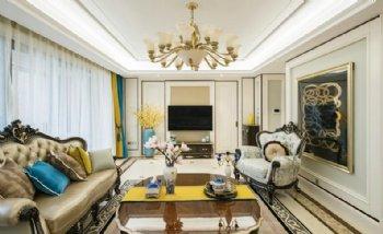 85平景源里三居室欧式风格案例欣赏