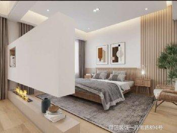 中梁别墅现代卧室