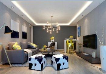 万科云鹭两居室 90平米现代时尚之作