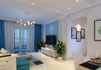 99平现代风格装修 水木清华两居室