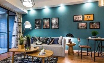 单身公寓一居 蓝色北欧风