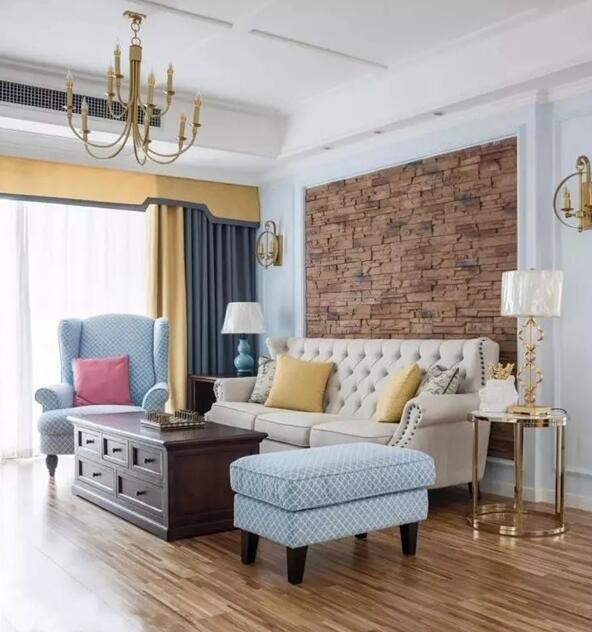 130平三居室现代美式风装修实景图给你