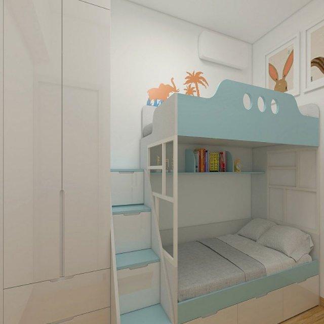 定制榻榻米床柜一体是现下孩子房的最爱